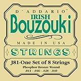 D'Addario J81 Saitensatz für Ukulele, Dulcimer, Tenor Gitarre, Oud Bouzoiki-Irish