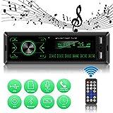 ODLICNO Autoradio mit Bluetooth Freisprechung Auto MP3 Auto mit FM/USB/AUX Fernbedienung 7 Beleuchtungsfarben LCD Bildschirm Single Din Universal Stereo Autoradio MP3-Player Empfänger