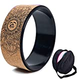 Kork Yoga Rad, natürliche und bequeme Pilates Dharma Requisiten zur Verbesserung der Flexibilität, Set Assembly Bag (A)