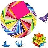 Origami papier,150 Blatt doppelseitiges,Origami Papier in 50 lebhaften Farben, Origami-Papier für Kunst- und Bastelprojekte(15 x 15 cm)