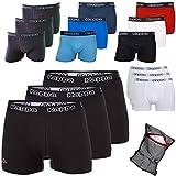 Kappa Herren Boxershorts ZiATEC Edition | Unterhose für Herren, S-5XL mit praktischem Wäschenetz, 3er, 6er und 9er Packs - Männer-Unterwäsche, Farbe:3 x schwarz/schwarz, Größe:M