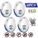 MGRETT Ultraschall Schädlingsbekämpfer 4 Pack Insektenabwehr Control Plug In Insektenvertreiber Mäuse und Ratten Repeller Schädlingsbekämpfung Insekten Spinnenabwehr Mäuseabwehr (weiß)