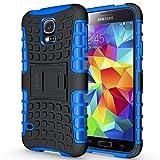 ykooe Galaxy S5 Hülle,S5 Hülle (TPU Series) Dual Layer Hybrid Handyhülle Drop Resistance Handys Schutz Hülle mit Ständer für Samsung Galaxy S5 (Blau)