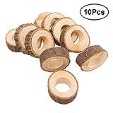 Healifty 10 Kreis Holz Serviette Ring DIY Basteln Kits Hochzeit Pary Tisch Ornament