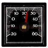 Lantelme Autothermometer selbstklebend mit Klebepad für Kfz Pkw LKW Innen Auto Thermometer Bimetall und Analog 2303