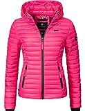 Marikoo Damen Übergangs-Jacke Steppjacke Samtpfote Pink Gr. S
