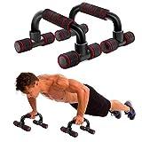 WELLXUNK Liegestützgriffe,2er-Set Liegestütze Griff,Push-Up Bar,liegestützgriffe rutschfest,Schaumgriff, Liegestütze Griff handgelenksschonend und optimal für Krafttraining und Muskeltraining (rot)