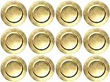 finemark 12 Stück Platzteller Gold Unterteller Dekoteller Durchmesser 33 cm Kunststoff Teller Weichnachten Tischdekoration
