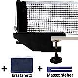 Fofoza TT Netzgarnitur Set - Profi Tischtennisnetz mit stabiler Metall Halterung, 2 Netzen &Messschieber   Universal Ping Pong Garnitur für alle gängigen Tischtennis Platten, Indoor & Outdoor