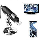 USB Digital Mikroskop, 50x-1600x Vergrößerung endoskop 8 LED-Leuchte Mini-Handmikroskop mit Ständer Ideal für Kinder, Studenten, kompatibel Android OTG-Handy, Windows 7, 8, 10, Linux, Mac
