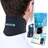 Sports Laboratory Nackenbandage gegen Nackenschmerzen mit Magneten & Turmalin selbstwärmend verstellbare Cervicalstütze (Regular (11-17inch))