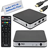 TVIP S-Box v.605 IPTV 4K HEVC HD Android 6.0 Linux Multimedia Stalker IP TV Streamer 1GB RAM + 8GB eMMC, MicroSD Card, ext.IR inkl. 5GHz Wlan
