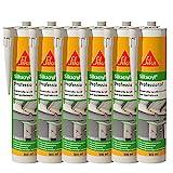 Sika Corporation 528149 Sikacryl Pofessional Acryl-Dichtstoff Fugendichter überstreichbar, weiß, 6x 300ml