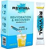 Revival Isotonisches Getränkepulver Elektrolyt Drink - Gesundheits- und Sportgetränk – Zitrone & Limette 6 Sticks