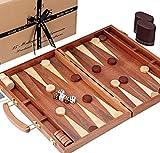Jaques of London Backgammon Set - 15 Zoll Mahagoni