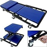 Deuba® 2in1 KFZ Rollbrett Werkstatthocker bis 150kg 6 leichtgängige 360° Lenkrollen Werkstattliege Montageliege Rollliege