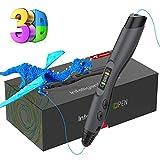 3D Stift, Tecboss 3D Stifte mit LCD Bildschirm für Kinder, 3D Druck Stift Set mit PLA Farben für DIY, Handgefertigte Werke, Einzigartige Geburtstags-Und Weihnachtsgeschenke für Kinder Und Erwachsene