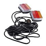 Blinker, 12V LED-Anhänger-Tauchleuchte Blinker-Sicherheitswarnleuchte, 12V wasserdichte LED-Anhänger-Tauchleuchte Stop/Blinker/Heck/Kennzeichen