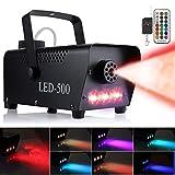 Anpro Nebelmaschine 500W, LED-Lichteffekt Party-Nebelmaschine mit Fernbedienung für Hochzeit,Weihnachten, Halloween