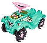 BIG-Bobby-Car Classic Tropic Flamingo - Kinderfahrzeug mit Aufklebern im Tropischen Stil, für Jungen und Mädchen, belastbar bis zu 50 kg, Rutschfahrzeug für Kinder ab 1 Jahr, türkis