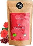 BIO Hibiskusblüten - Hibiskustee - 100% Hibiskusblüten, ganz getrocknet - Premium Bio-Qualität - geprüft und abgefüllt in Deutschland (DE-ÖKO-39)   80DEGREES