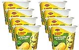 Maggi 5 Minuten Terrine Kartoffelbrei mit Blattspinat, leckeres Fertiggericht mit Spinat, Instant Kartoffel-Püree, Kartoffel-Snack, 8er Pack (8 x 47g)