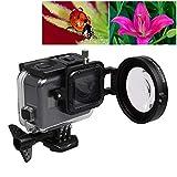 Gute Qualität for GoPro Hero 5 58mm 16X Makroobjektiv Nahlinse mit Objektiv-Adapter-Ring Basis