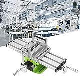 Mini Fräsmaschine Arbeitstisch Schraubstock Tragbare Verbundbank X-Y 2 Achsen Einstellbare Kreuzschlitten Tisch für Tischbohrmaschine (310mm 90mm) 12,2 zoll-3,54'