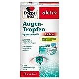 Doppelherz Augen-Tropfen Extra Hyaluron 0,4 % / Feuchtigkeitsspendende Augentropfen mit lindernder Wirkung bei trockenen & gereizten Augen / 10 x 0,5 ml