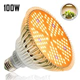Derlights 100W LED Pflanzenlampe E27 Grow Light, 150 LEDs Vollspektrum Pflanzenlicht, Sonnenähnlich Pflanzenlampen Wachstumslampe für Pflanzen Garten Gewächshaus Zimmerpflanzen