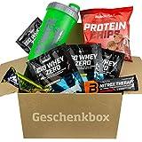 Biotech USA ISO WHEY ZERO Protein Probier Set 20er Geschenkbox Whey Protein Proben - Protein Chips - Eiweißshaker - Eiweißriegel - Trainingsbooster - Testpaket (15er-Testpaket)
