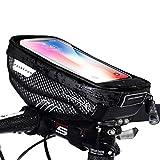 Faireach Lenkertasche Fahrrad mit Handyhalterung, Rahmentasche Oberrohrtasche, Fahrrad Handy Halterung Wasserdicht mit Fenster für Touchscreen, für iPhone Samsung Smartphone bis zu 6,5 Zoll
