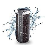 Hama Bluetooth-Lautsprecher (mit Touch-Steuerung, 24 W, tragbar/kabellos/spritzwassergeschützt IPX4, NFC, AUX, 3,5mm Klinke, BT 4.1, Freisprechfunktion, Mikrofon, Outdoor Speaker Box) schwarz