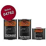 TRISTARcolor Autolack Set Dose spritzfertig für Volvo 04762 Maron Red Basislack + 2K Klarlack 2,5L