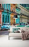 Komar 168-DV3 Vlies Fototapete Cuba Tapete, Wand Dekoration, Kuba, Autos, Oldtimer, Urlaub, Reisen-168-DV3, bunt, 300 x 250 cm (Breite x Höhe)