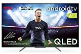 TCL 50C715 QLED Fernseher 127 cm (50 Zoll) Smart TV (4K Ultra HD, HDR 10+, Dolby Vision Atmos, Triple Tuner, Android TV, Hands-Free Voice Control, Google Assistant & Alexa, rahmenloses Metalldesign)