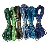 Sharplace 6 Farben 2mmx10m Gewachste Baumwolle Schnur Baumwollschnur String Threads Faden Kordeln Wachsband Baumwollkordel für Schmuckherstellung - Farbe 2