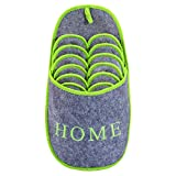 ONVAYA ABS Gästepantoffel Home greygreen   Grün Grau   6er Set   Antirutsch   Hausschuhe   Pantoffel