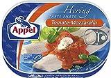 Appel Heringsfilets Tomate-Mozzarella, 10er Pack Konserven, Fisch in Tomaten-Mozzarellasauce