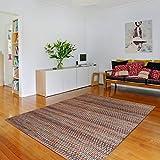 mynes Home Moderner Baumwollteppich Bunt ideal für Wohnzimmer Flur Schlafzimmer 160x230cm