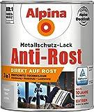 Alpina Metallschutz-Lack glänzend Silber 0,75 Liter