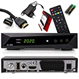 Opticum SBOX - PVR Aufnahmefunktion Timeshift - Multimedia - 1080P Digital HDTV Sat-Receiver für Satellitenfernseher - Astra Hotbird vorinstalliert - HDMI, SCART, USB, DVB-S/S2 + Anadol HDMI Kabel