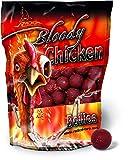 Quantum Radical Naturköder 20mm/1kg Boilie Bloody Chicken 20mm 1 KG, Rot/braun