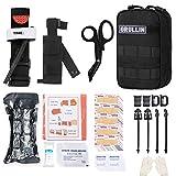GRULLIN MOLLE IFAK Trauma Kit, taktisches Erste Hilfe Kit, Notfall EMT für die Kajak Camp Jagd auf Reisen mit dem Auto, Tourniquet Verband Blutungskontroll Kit
