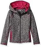 Amazon Essentials Mädchen Full-Zip Active Jacket, Grau (Grey Spacedye), 8 Jahre (Herstellergröße:  M)