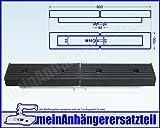 Gummiauflage Bootsauflage im U Profil 600x100mm - für Bootsanhänger Bootstrailer