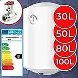 Elektro Warmwasserspeicher - Thermometer, 1500W, emailliert, 30, 50, 80, 100 Liter Speicher, für Wandmontage - Wasserboiler, Boiler, Warmwasserbereiter, Warmwasserboiler für Bad