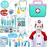 NextX Arzt Medizinisches Spielzeug Kinder 38 Teile Arztkoffer Doktor Spielset Rollenspiel Geschenke für Mädchen und Jungen