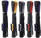 Golftasche / Pencilbag / Reisebag / Rangebag / Pistolbag / Tragebag mit integrierter Schutzhaube und Außentasche in Farbe: schwarz - silber