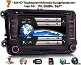 iFreGo 7 Zoll 2 Din Autoradio Für VW Golf 5/6 Tiguan EOS Caddy Polo Jetta,GPS Navigation,DVD CD Player,Windows CE 6.0,DAB+ autoradio unterstützt Lenkradsteuerung Bluetooth